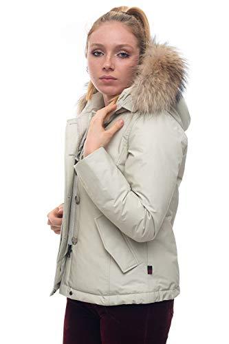 Woolrich W's Short Arctic Parka aus Baumwolle für Damen, Weiß Small