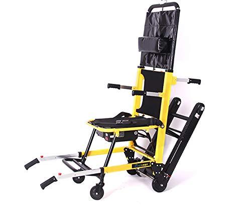 LWQ Folding Elektro-Klettern Rollstuhl, Nach Oben Und Unten Die Treppe Raupen Elektrische Treppensteiger Rollstuhl,Gelb