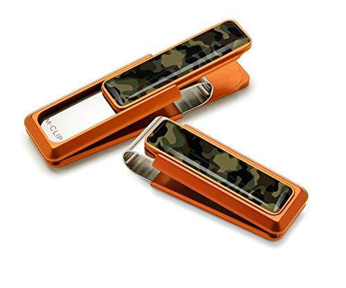 M-Clip Ultralight Aluminum Money Clip in Orange with Camo Accent