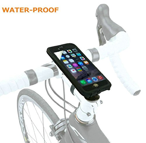 Eximtrade Fahrrad Handy Halterung Wasserdicht für Apple iPhone 6 (Schwarz)