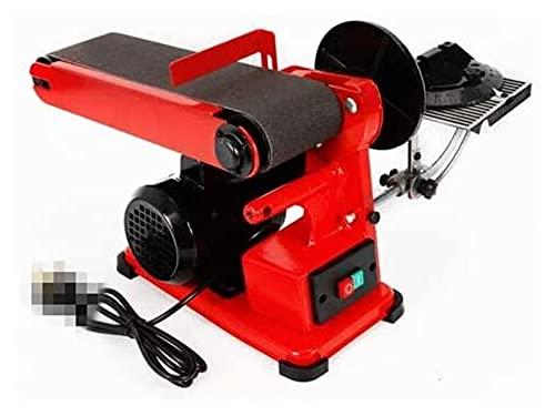 Lijadora De Banda 350W Banco de la amoladora de la máquina de lijadora de lijadora de la máquina de lijado de la máquina de lijado Ajustable de inglete eléctrico para la madera / fabricación de cuchil