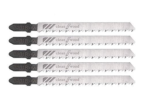 Hojas de sierra de calar 5 piezas T101B Hoja de sierra caladora con vástago en T Surtido de hojas caladoras universales para cortar metal, madera, PVC y más, para Bosch, Dewalt, Hitachi, Makita, Fest