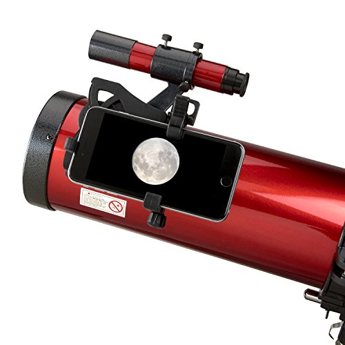 Carson Red Planet Series 45-100x114mm Newtonian Reflector Telescope with Universal Smartphone Digiscoping Adapter (RP-300SP),Large