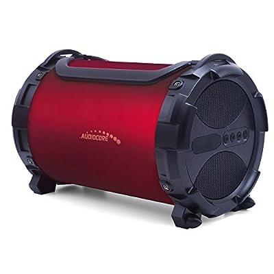 Audiocore AC880 Bazooka Speaker Bluetooth, FM MicroSD Card Burgundy IPX4 2000mAh from Audiocore