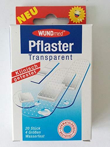 Wundmed® 02-042 Pflaster transparent 40 Stück 4 Größen (2 Packungen)