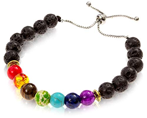 Believe London Chakra Bracelet Cadena Plata Ajustable