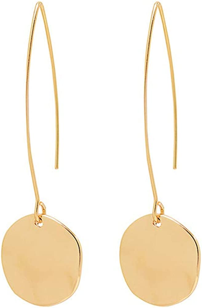 Sale Easy-to-use Just Follow Shiny Hammering Circle Drop Small Dangle Hangin Disc