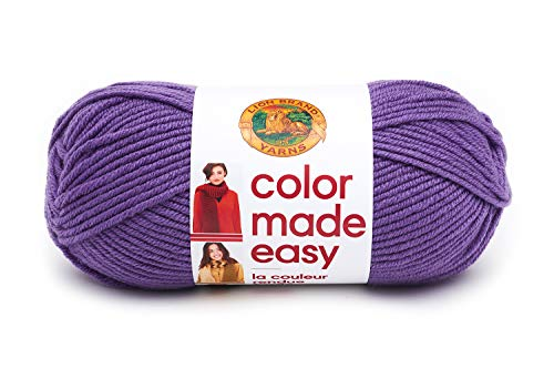 Lion Brand Yarn Color Made Easy Yarn, Ultra Violet