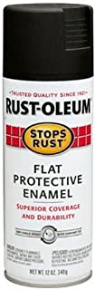 Rust-Oleum 7776830 Stops Rust Spray Paint, 12-Ounce, Flat Black