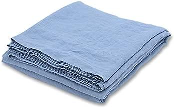 LinenMe 石洗床单 167.64x259.08 厘米,石蓝色,预洗,* 亚麻,欧洲制造,上层床单