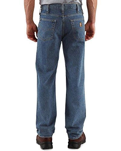Carhartt Men's Relaxed Straight Denim Five Pocket Jean,Deepstone,42 x 32