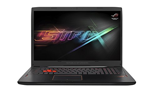 Asus ROG GL702VM-BA322T 43,94 cm (17,3 Zoll mattes FHD) Gaming-Laptop (Intel Core i7-7700HQ, 8GB RAM, 256GB SSD + 1TB HDD, NVIDIA GeForce GTX 1060 6GB, Windows 10 Home) schwarz