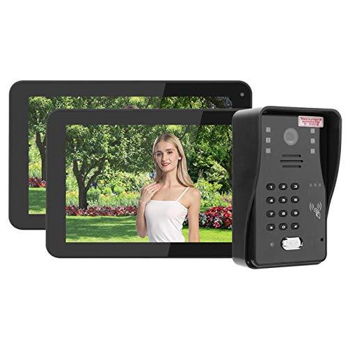 PLLO Sistema de intercomunicador de Video, Kits de Timbre de videoportero con Pantalla táctil de visión Nocturna,(European regulations)