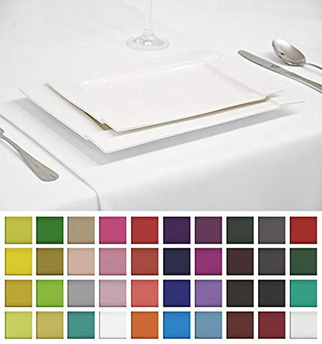 Rollmayer Edle Tischläufer Tischdecke Tischtuch Tischwäsche Pflegeleicht Kollektion Vivid (Weiß 1, 40x300cm)