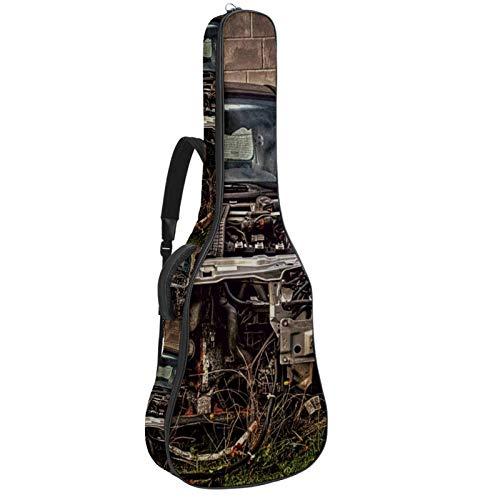 Bolsa para guitarra de coche Old Scrap, impermeable, tela Oxford, funda para guitarra con correa ajustable para el hombro