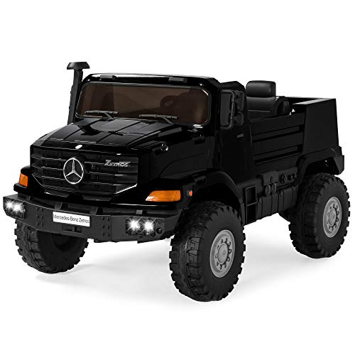 Best Choice Products Kids 24V 2-Seater Ride On Car SUV Truck w/ 3.7 MPH Max, Lights, AUX Port, Sounds - Black