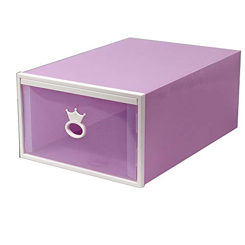 BAIYA Caja De Zapatos, Material De PP, Caja De Zapatos con Patrón Impreso Tipo Cajón, Gabinete De Zapatos De 10 Piezas, Caja De Zapatos De Almacenamiento Multifunción (A21,30.5x21.5x12.5cm)