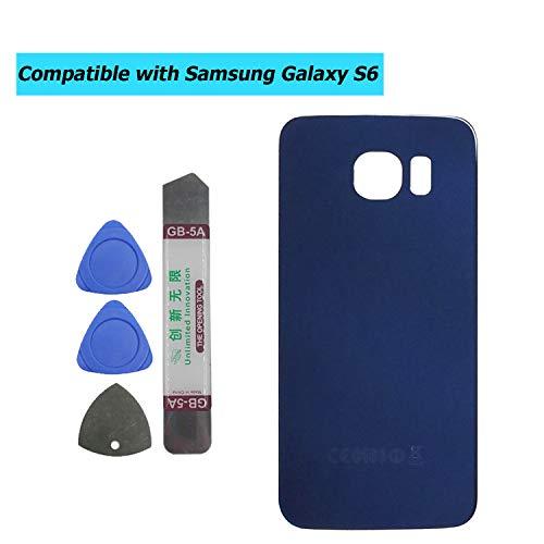 Upplus - Tapa Trasera Compatible con Samsung Galaxy S6 G920F G920, Color Negro