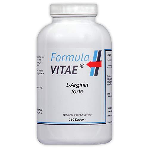 L-Arginin Base - HOCHDOSIERT - 100% REINES, BIOAKTIVES und VEGANES L-Arginin - Hypoallergen - 360 Vegi - Kapseln - 4200 mg - NO Booster - Fördert die Durchblutung