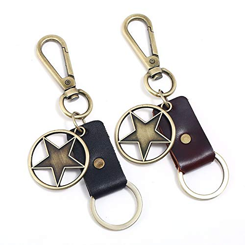 2 Pcs Key Chain Handbag Lady Car Pendant Key Fob Hanging Ornament Business Gift for Men Women