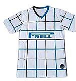Camiseta de Verano de Manga Corta para Hombre 20/21 Temporada Italia Ibrahimović Entrenamiento de fútbol Ropa Deportiva de fútbol-White-S