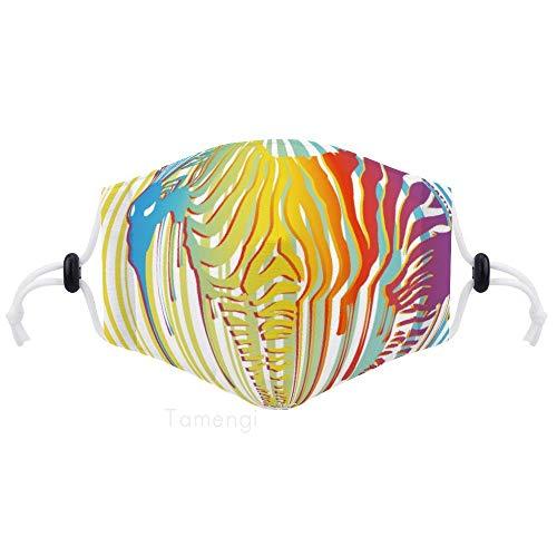 Ademende stof mond gezicht bedekken, Schilderij Zebra Verstelbare Oorlus Half Gezicht Shield Wasbaar Gezicht Cover voor volwassenen