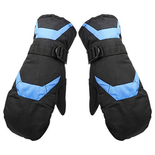 Dosige Gants Chauds d'équitation Gants de Ski épaississants résistants à l'usure Size 27 * 12 * 4cm (Bleu Noir)