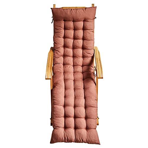 Moolo Leichter Stuhl Schaukelstuhl, Chaise Lounges Bambus Recliner Falten-lunchstuhl Erwachsener Home älterer Balkon Natürlicher Bambus Holzstuhl(Size:150cm Cushion,Color:Braun)