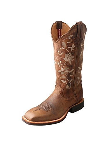 Twisted X Women's Ruff Stock Boot, Oiled Bomber/Oiled Bomber, 9.5(B)