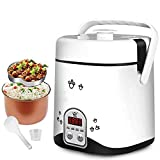 Zhihao 1.2L Mini Electric Arrocera, (200 W / 220 V) Multi-Cocina pequeña Cooki Máquina Huevos Alimentos vaporizador Guiso Sopa de Caja Caliente, arroz con Capacidad for 3 Personas