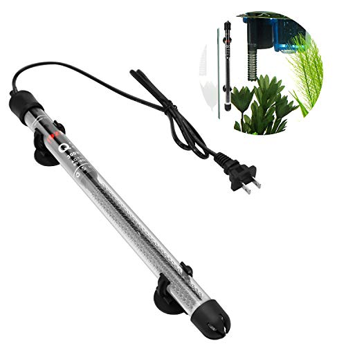 Aquastore 300W Submersible Aquarium Fish Tank Heater with Adjustable Knob and Suction Cup,Explosion-Proof Glass Aquarium Heater for 50-80 Gallon Tank (300W)