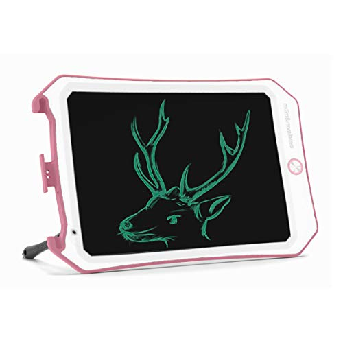 Spring&8.5 inch Writing &Drawing Board Doodle Board Toys for Kids, Birthday Gift for 4-5 Years Old Kids & Adults Color LCD Writing Tablet with Stylus Smart Paper (Pink-White-d)