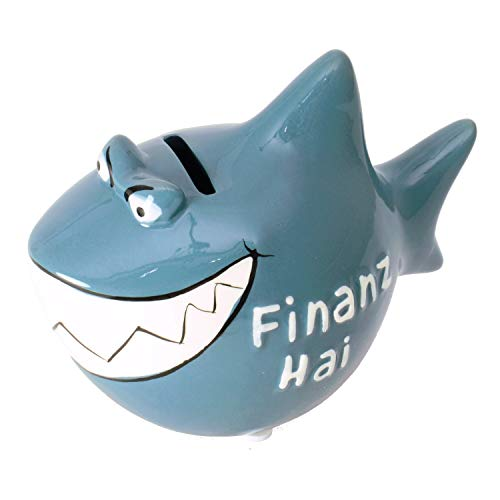 KCG Spardose Sparschwein Sparhai klein Finanzhai