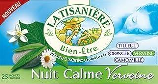La Tisaniere French Tisane - 25 Counts (Nuit Calme Verveine (Tranquil night Verbena)) by La Tisaniere