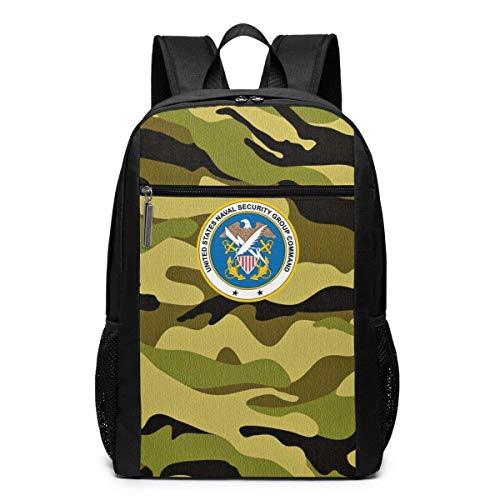 Adhyr US Navy Naval Security Group Befehl Reiserucksack, Rucksack Wasserdicht College School Computer Tasche 17-Zoll-Laptop-Rucksack