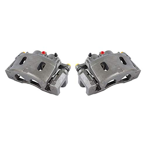 Callahan CCK11601 [2] FRONT Premium Grade OE Semi-Loaded Caliper Assembly Pair Set