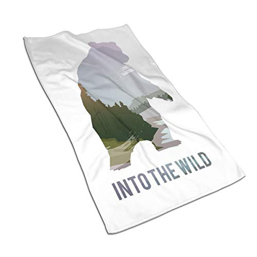 JOJOLASQ Kitchen Dish Towels Wash Cloth Car Household Pet Bath Towel,Wild Animals of Canada Survival In The Wild Theme Hunting Camping Trip Outdoors,27.5 Inch X15.7 Inch
