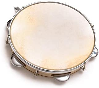 Capoeira Leather Pandeiro Drum Tambourine Samba Brasil Wood Music Instrument 10""