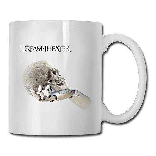 Taza de café divertida Dream Theater - Tazas de café de cerámica de 11 onzas - Idea única de regalo de Navidad de cumpleaños para amigos, familias