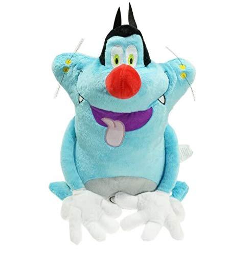 LUOWAN 38 cm Französisch Cartoon Oggy Und Die Kakerlaken Plüschtier Fat Cat Oggy Stofftier Puppe Kinder Spielzeug Geburtstagsgeschenk