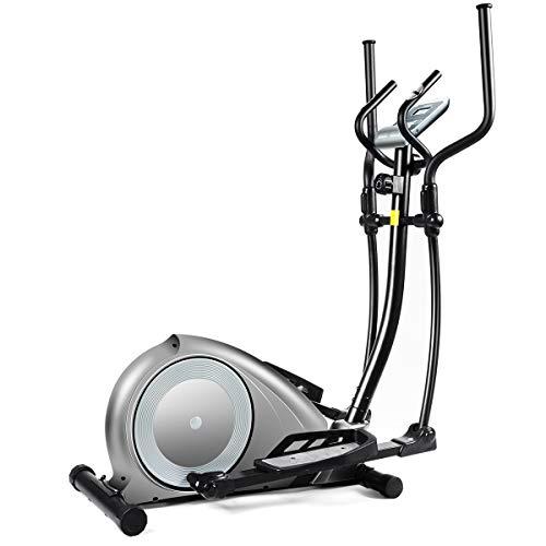 Goplus Elliptical Machine, Portable Magnetic Elliptical Trainer Cardio Fitness Workout Machine Smooth Quiet Driven