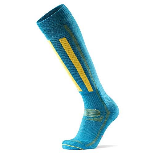 DANISH ENDURANCE Chaussettes de Ski (Bleu/Jaune - 1 Paire, EU 43-47)