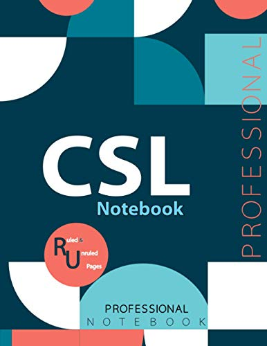 """CSL Notebook, Examination Preparation Notebook, Study writing notebook, Office writing notebook, 140 pages, 8.5"""" x 11"""", Glossy cover"""