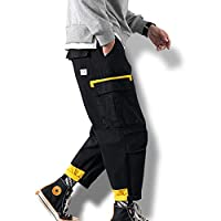 メンズ カーゴパンツ 九分丈 作業着 ズボン ワイドパンツ ゆったり カジュアル 夏秋 ロングパンツ