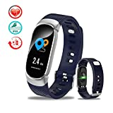 TANCEQI Fitness Tracker Activity Tracker with 0.96inch IPS Color Screen Long Battery Life Smart Watch with Sleep Monitor Step Counter Calorie Counter Smart Bracelet for Women Men,Blue