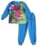 Dreamworks Trolls Mädchen Polar Fleece Winter Pyjama (Türkis, 7 Jahre)