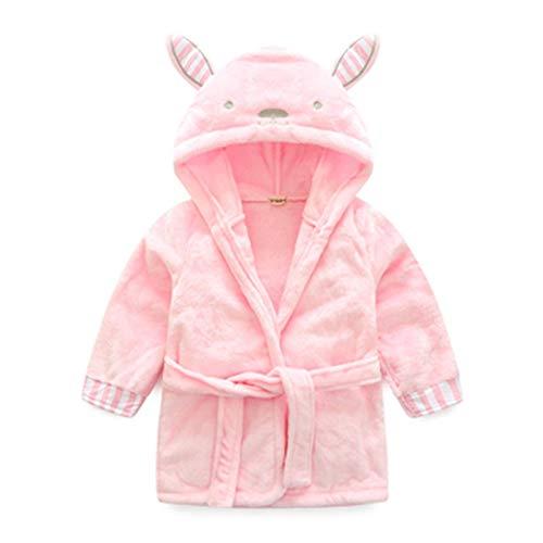 N-B Toalla de baño con capucha para bebé, diseño de animales, de franela ultra suave, para niños de 2 a 6 años