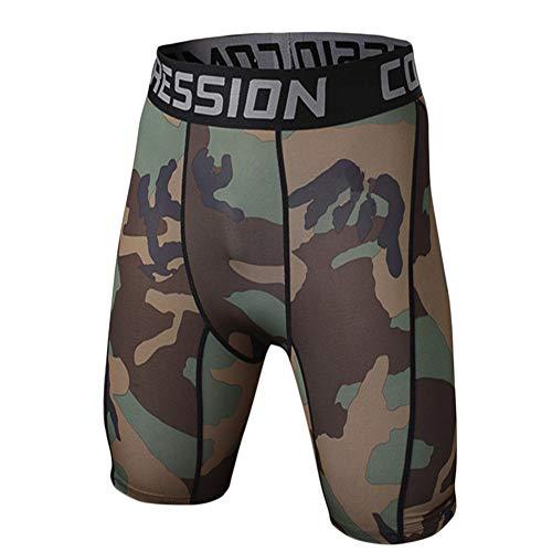 GELing Pantalones Cortos De Compresión para Hombre Mallas Cortos Función De Secado Rápido Deporte Jogging Correr 5 S