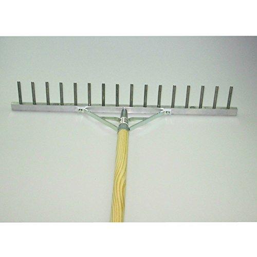 Polar Aluminium-Rechen Rasenrechen Bauern-Harke 60 cm 16 Zinken mit 150 cm Stiel