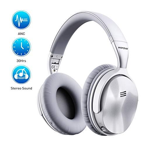 Preisvergleich Produktbild Noise Cancelling Kopfhörer (ANC),  Mpow H5 Bluetooth Kopfhörer Over Ear mit HiFi Stereo,  40mm-Dual-Drive-Laufwerkeingebauten,  30 Std Spielzeit,  eingebauten Mikro CVC 6.0 für Schule / Flughafen / Flugzeug